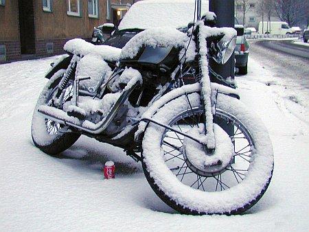Motorrad überwintern ohne Schnee